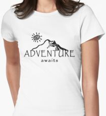 Adventure Awaits - Mountain and Sun  Womens Fitted T-Shirt
