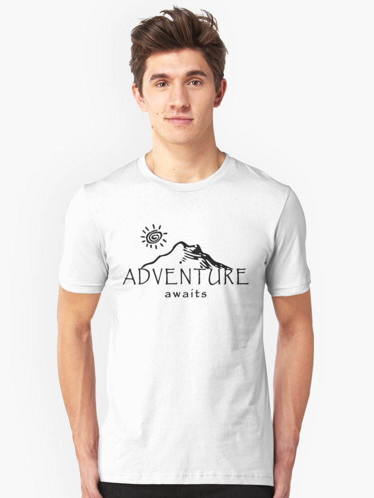 Adventure Awaits - Mountain and Sun  Unisex T-Shirt Front