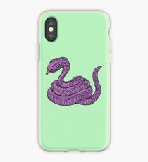cute purple snake iPhone Case