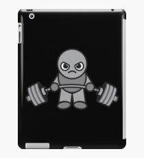 Kawaii Weight Lifter - Deadlift (grey) iPad Case/Skin