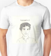 sketch of Bennedict Cumberbatch from sherlock T-Shirt