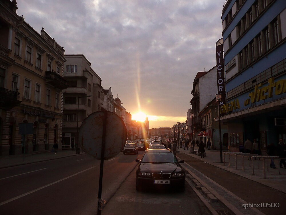 "sunset on ""Hero's"" street by sphinx10500"