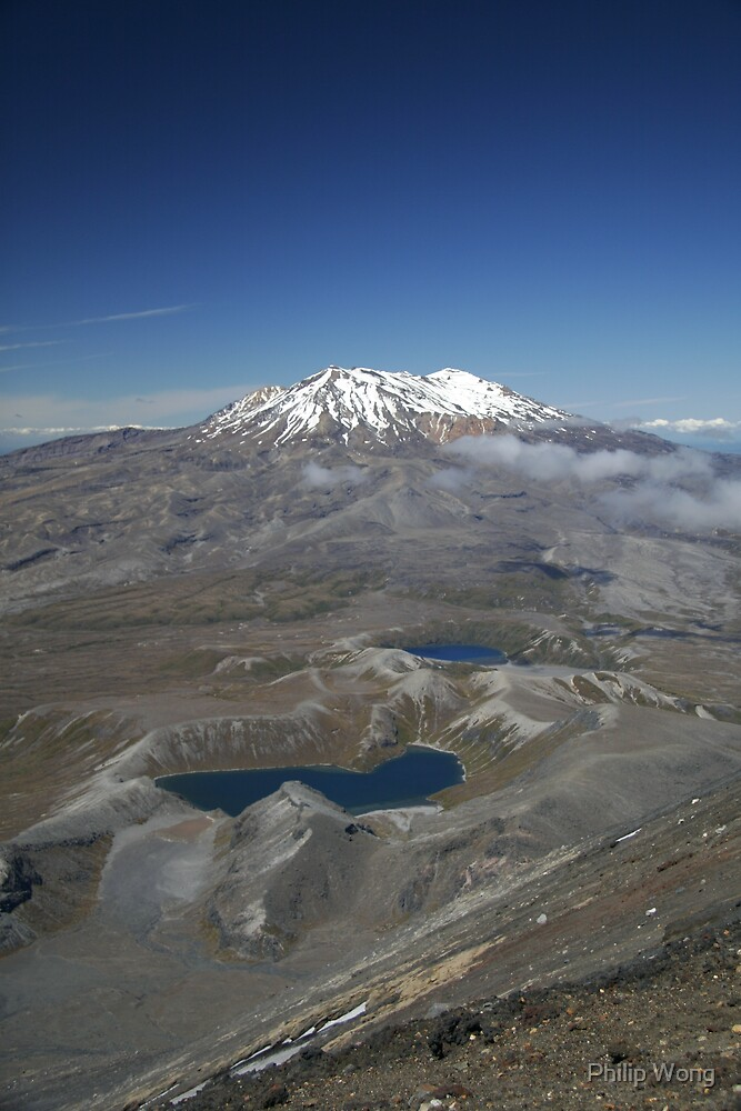 Mt Ruapehu From Mt Ngauruhoe - Tongariro National Park by Philip Wong