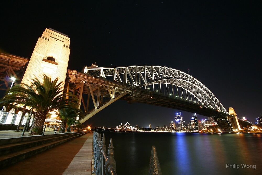 Sydney Harbour Bridge By Night by Philip Wong