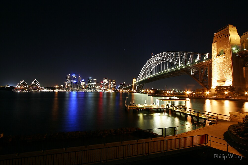 Milsons Point by Night - Sydney, Australia by Philip Wong