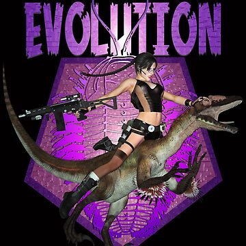 Dinosaur Girl Reptile Evolution by MARDUN