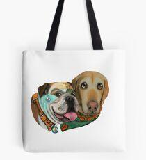 California Adventures Bulldog & Labrador Collection by CouchPetatoArt Tote Bag