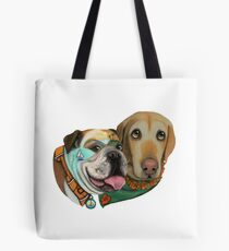 California Adventures Bulldog & Labrador Collection by CouchPetatoArt Tote Bag
