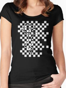 Checkered Past. 2 Women's Fitted Scoop T-Shirt