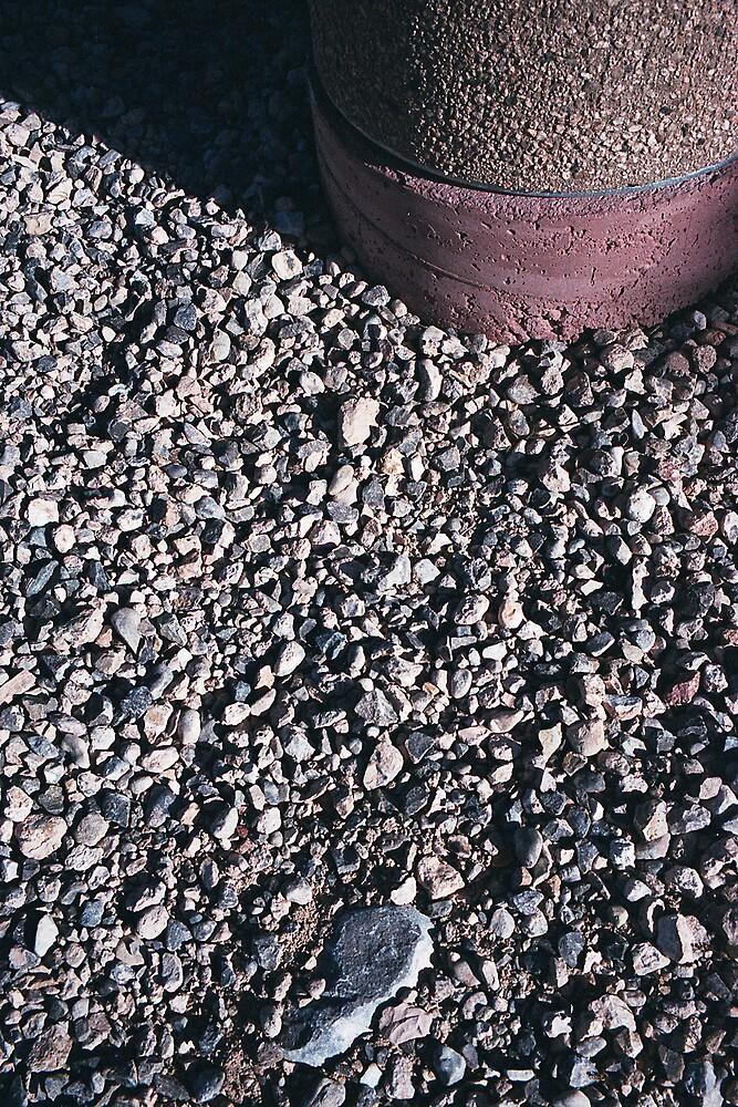 Gravel and bin by JimWhitham