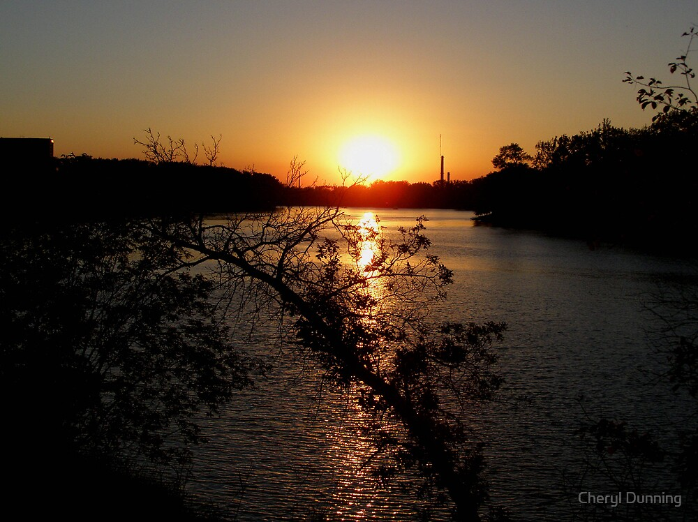 september winnipeg sunset by Cheryl Dunning