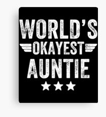 Auntie Quote Canvas Prints Redbubble