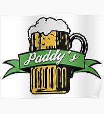 Paddy's Beer Icon Poster