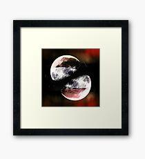 moon twin Framed Print