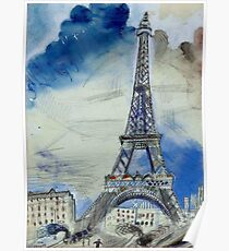 THE EIFFEL TOWER: Vintage Painting by Marc Chagall Poster