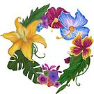 Tropical Flowers by Walter Colvin