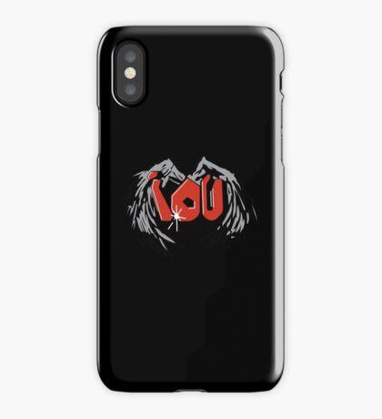 Sherlocked IOU Graffiti Black iPhone Case