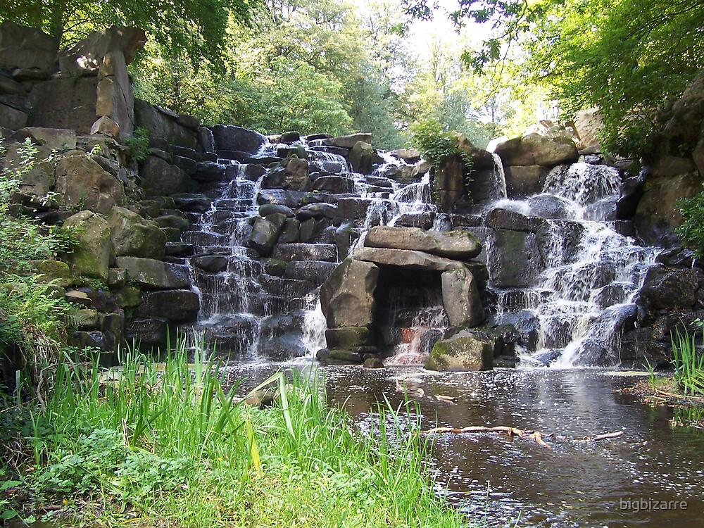 Virginia Water Water Fall by bigbizarre