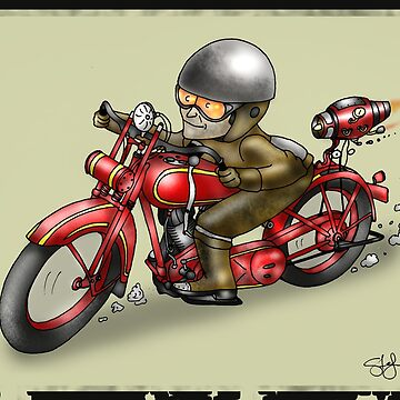 MOTORCYCLE 'HARLEY DAVIDSON' STYLE  by squigglemonkey