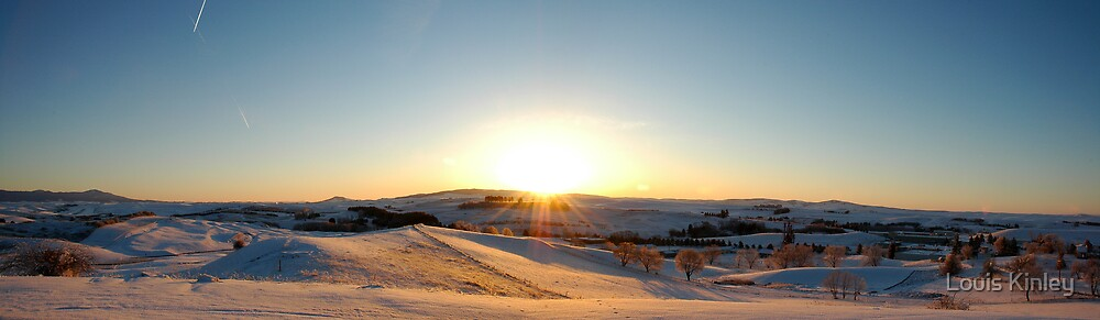 Snowy Sunrise Panorama by Louis Kinley