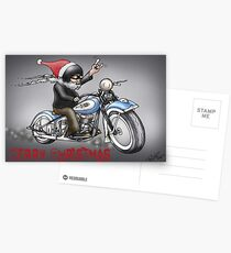 CHRISTMAS HARLEY STYLE MOTORCYCLE Postcards