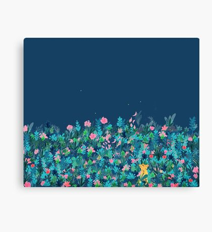 Evening Fox's Garden Canvas Print