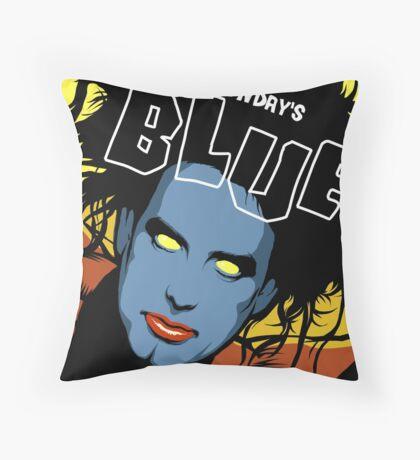 Post-Punk Blue Throw Pillow