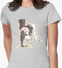 Bride and Groom Kiss Womens Fitted T-Shirt