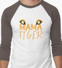 MAMA TIGER (with a matching Baby Tiger and Papa Tiger) Men's Baseball ¾ T-Shirt