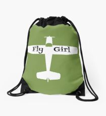 Women Are Pilots Too Drawstring Bag