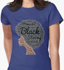 Strong Black Girl with Big Natural Hair Pride T-shirt gift Womens Fitted T-Shirt