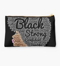 Strong Black Girl with Big Natural Hair Pride T-shirt gift Studio Pouch