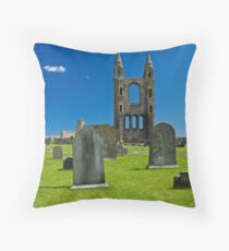 St. Andrews Cathedral Throw Pillow
