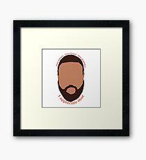 DJ Khaled 'You loyal' vector  Framed Print