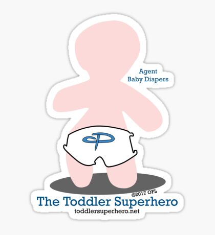 The Toddler Superhero Sticker