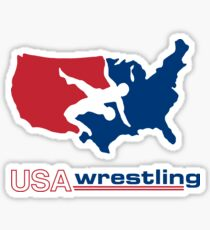 USA Wrestling Sticker