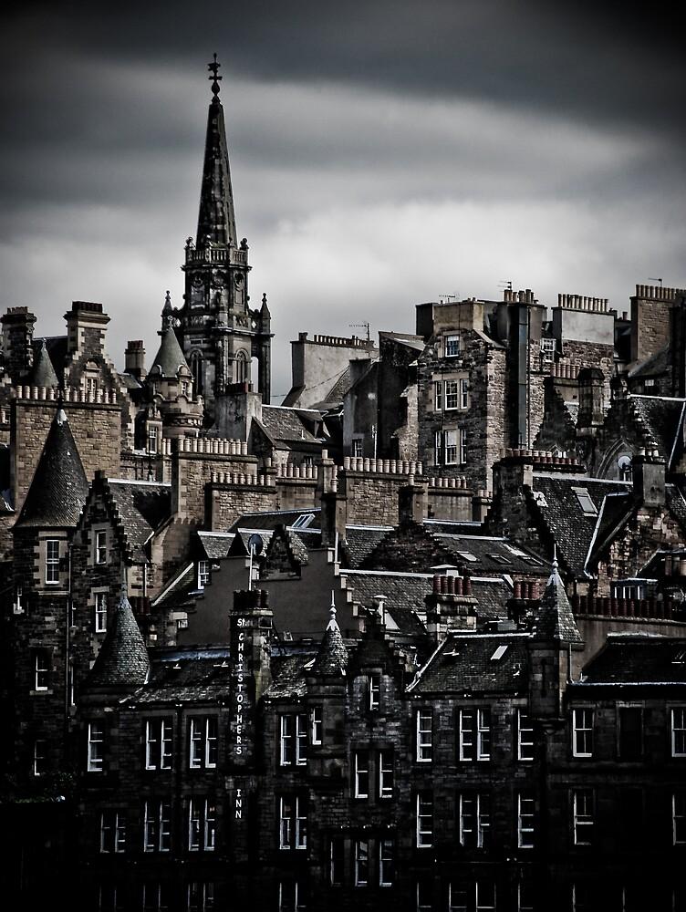 Edinburgh Old Town - Edgy version - vertical by Jan Cervinka