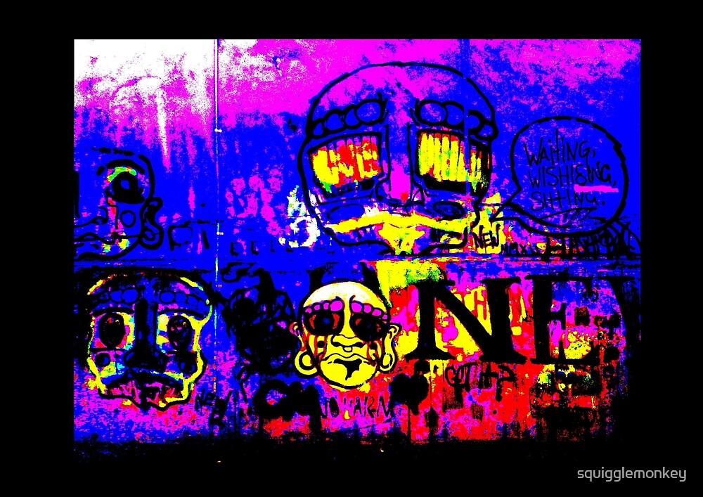 Graffiti inspired digital artwork funky by squigglemonkey