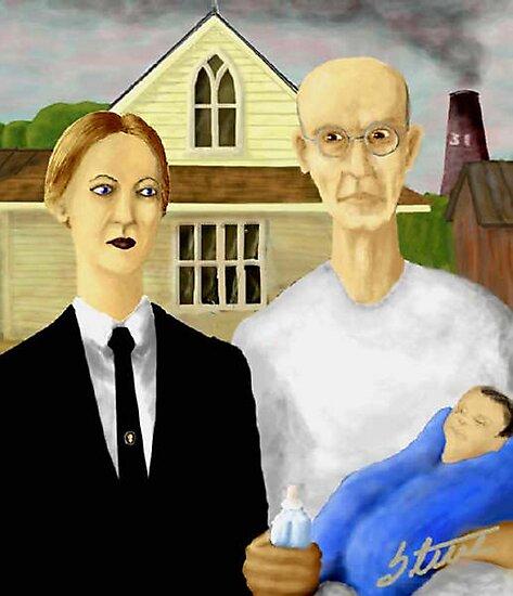 American Gothic Parody by Steve Hester