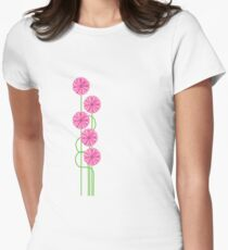 Pink Daisy Tee Women's Fitted T-Shirt