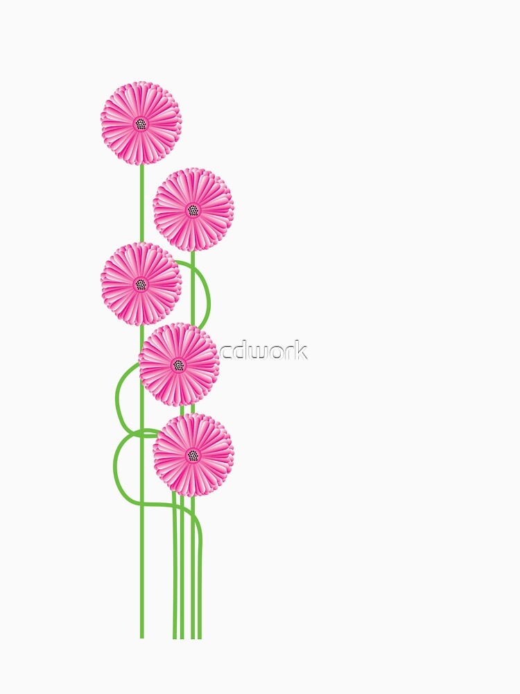 Pink Daisy Tee by cdwork