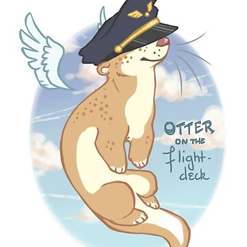 Otter on the Flight Deck by justaholmesboy