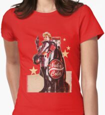 Nuka-Cola pin-up 2  Womens Fitted T-Shirt