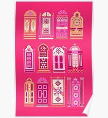 Moroccan Doors – Pink Palette Poster