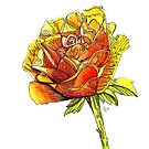 """""""Whimsical Rose"""" by Winterberry  Farm Studio"""