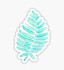 Fern Leaf – Turquoise Palette Sticker