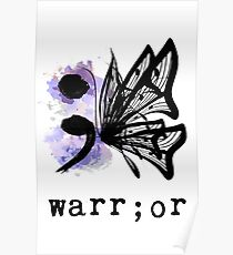 Semicolon Butterfly  Poster