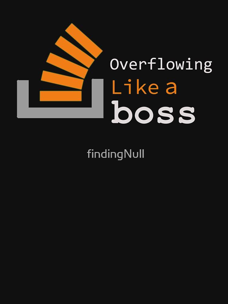 Desbordante como un jefe de findingNull