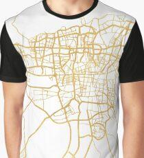 TEHRAN IRAN CITY STREET MAP ART Graphic T-Shirt