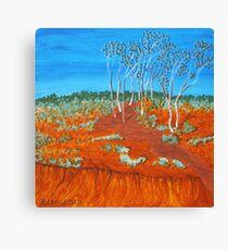 PLEIN AIR, RED GULLY Canvas Print